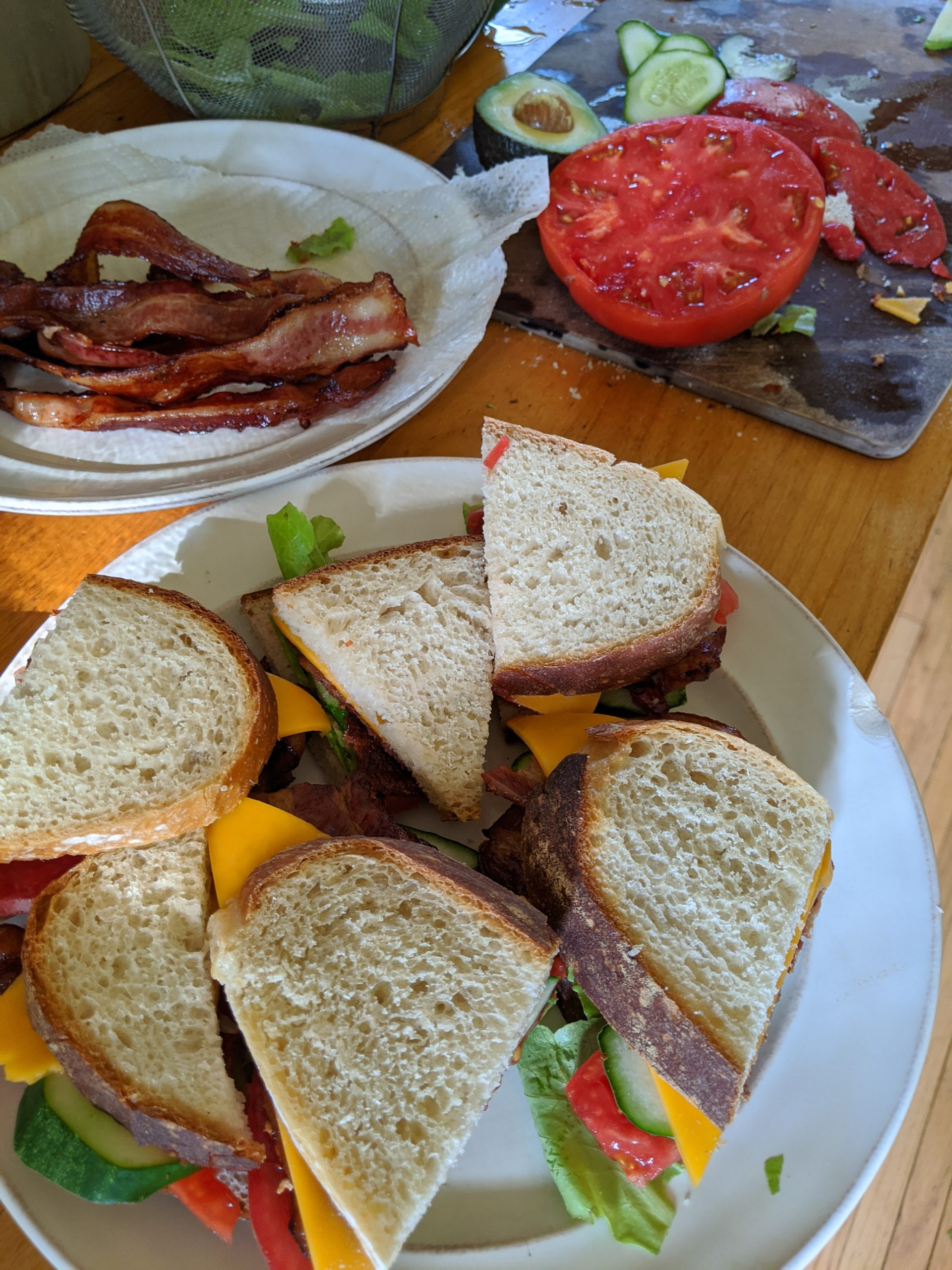 BLT plus Avocado and Cheese
